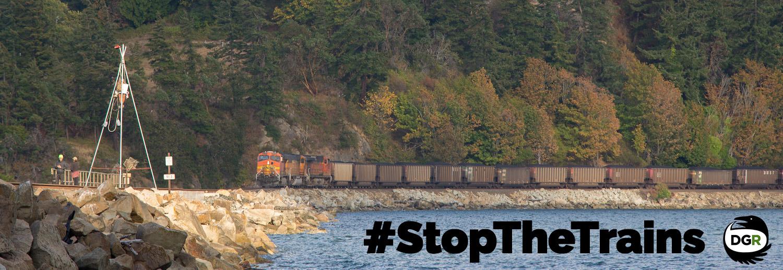 #StopTheTrains rail blockade fossil fuel stoppage