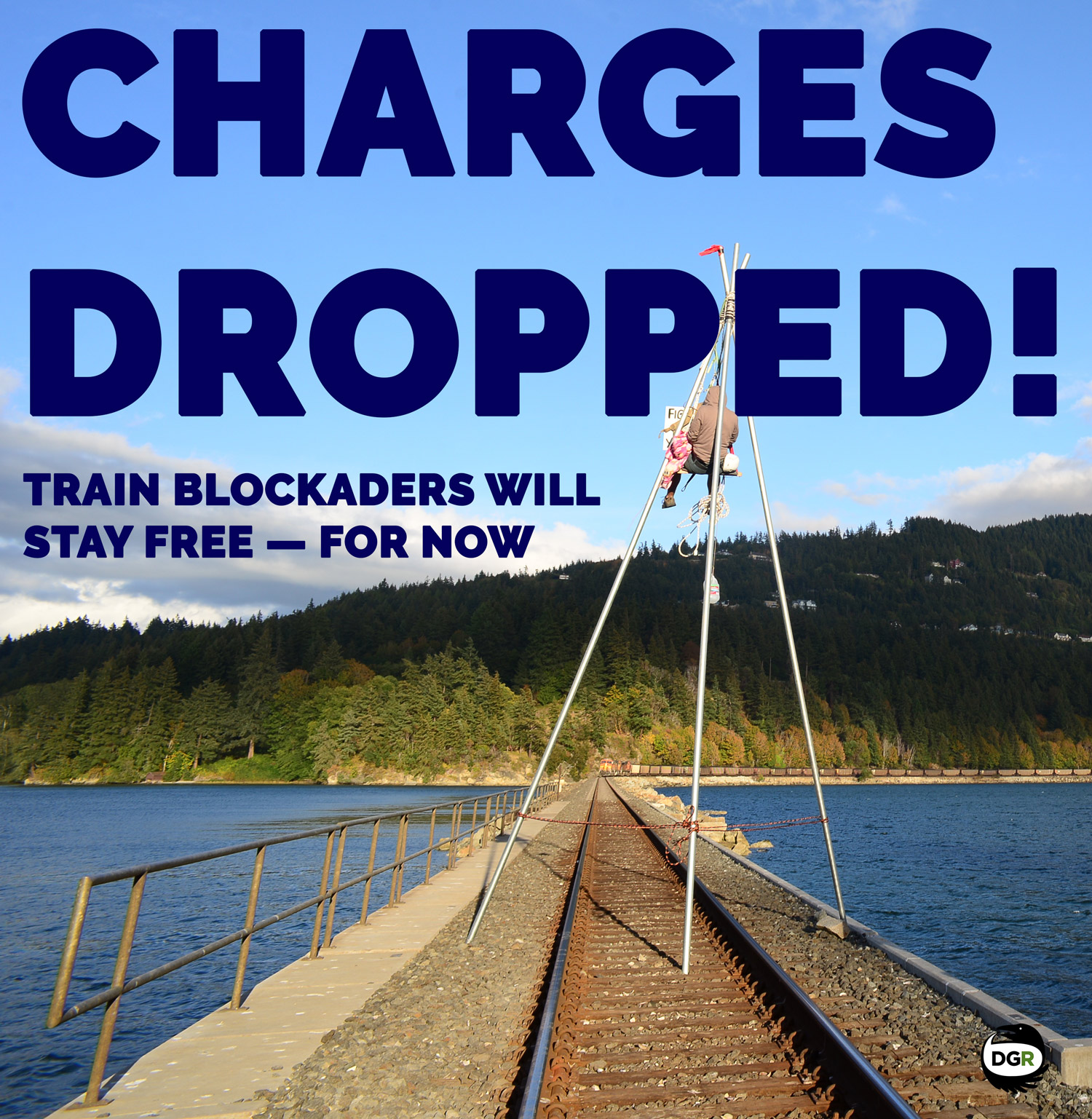 charges dropped for coal train blockaders